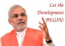 Let there be development, said Modi
