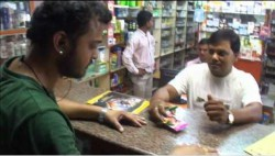 A shopkeeper refusing to handover condom to a buyer as he fails to show his marriage-certificate