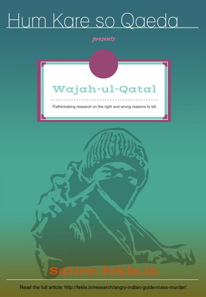 Wajah-ul-Qatal by HKS Qaeda satire